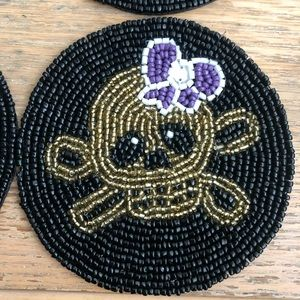 Other - Beaded Skull Coasters